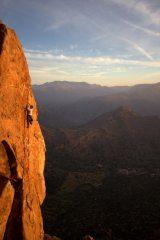 Skyline (HVS 5b) at Robin Hood Rocks