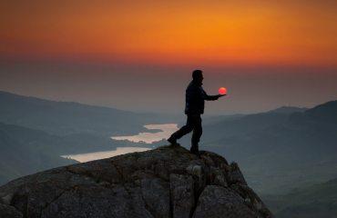 Sunset from above Craig Ddu, Llanberis Pass