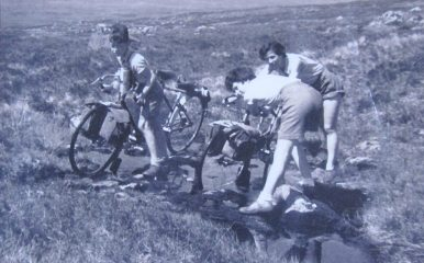 Crossing Rannoch Moor, 1954.