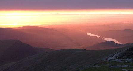 Sunset from Yr Wyddfa