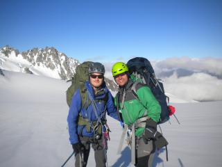 Rob and I (Tour Glacier) on the Haute Route carrying full loads of tents and food.