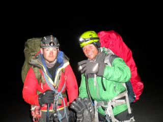 Early Start on the Glacier Haute Route.