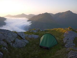 High camp on Luinne Bheinn