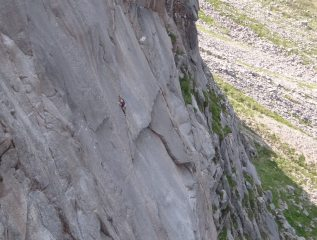 Running it out in a sea of granite