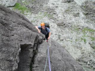 Petronella, climber RangerNic, Pitch 2.