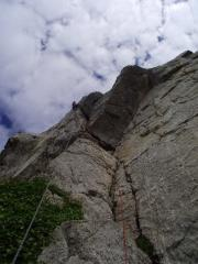 Just after the crux on Tension!