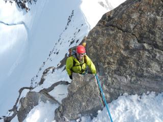 The Zumsteinspitze traverse en route to the Dufourspitze summit