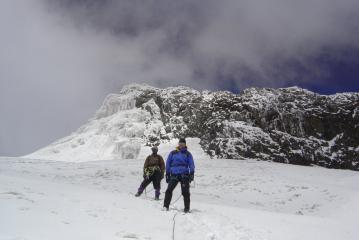 Descending from Margarita Peak, Mt Stanley (Ruwenzori)