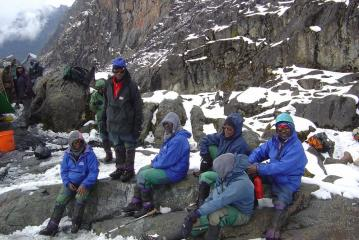 Trainee guides, Ruwenzori Mountains