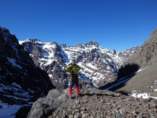 Me in Morocco half-way up Toubkal - January 2013
