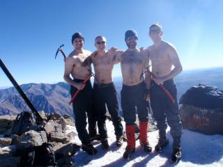 Toubkal summit with real men!