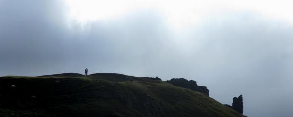 Two lovers on Castle y Bran, Llangollen