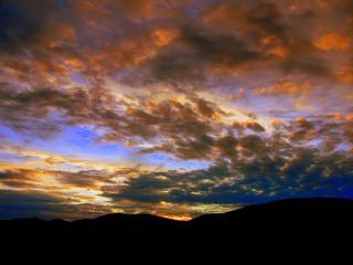 Sunset over the Llantisillio Hills outside Llangollen