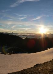 Sunrise on the Aiguille de Goléon