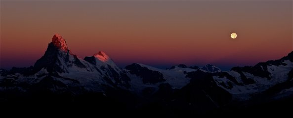 Dawn over southern Valais