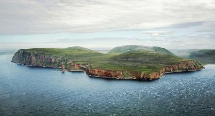 The West coast of Hoy looking North-East. From left to right; St John's Head, Old Man of Hoy and Rora Head.
