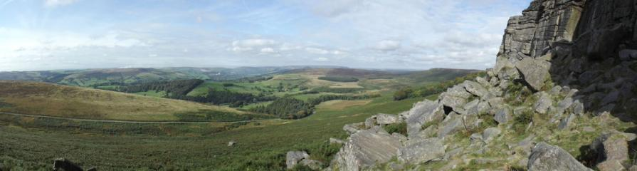 Playing around with new camera at Stanage.