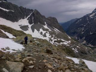 just above the glacier before the storm hit