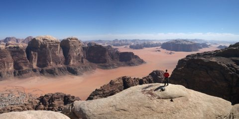 on top of the desert