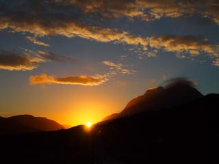 Sunset over Liathach