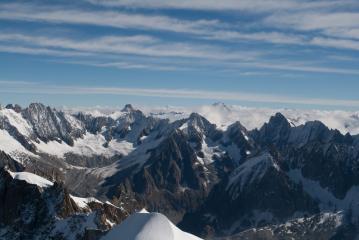 View from l'Aiguille du Midi