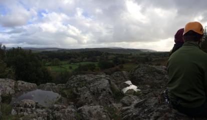 View from the top of Lindale Slabs