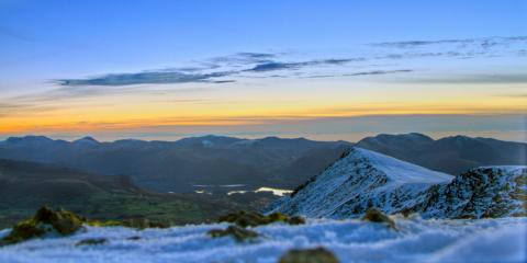 A shot I took from the summit of Blencathra at around 5PM last night, After an unexpected winter ascent of sharp edge!