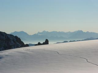 Crossing the Trient Glacier