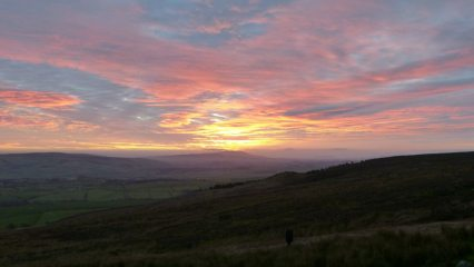 Sunset over Pendle from Deer Gallows