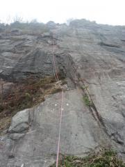 Rad putting up the F(R)A of Allotment Arete / Radford Quarry