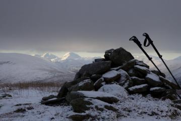 View from Meall nam Maigheach