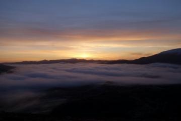 Sunrise on the way to Beinn A Chuallaich