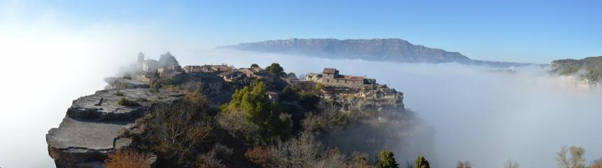 Siurana being engulfed by cloud