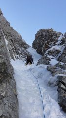 My first ice lead, Green Gully