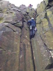 Derek climbing open sesame