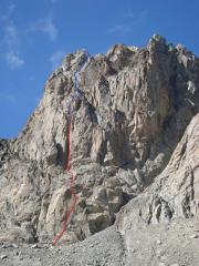 Full South Face of Pilier d'Avenir