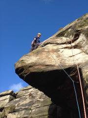 Andy on Sail Buttress