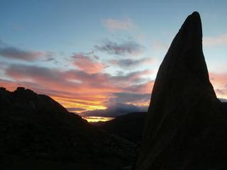 amazing sunset at La Pedriza