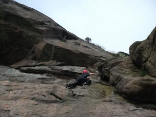 Topping out on Right Route.