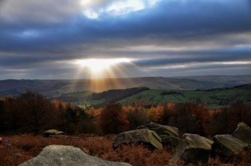 Looking out from Stanage Plantation