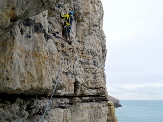 Scott Borden on the first ascent