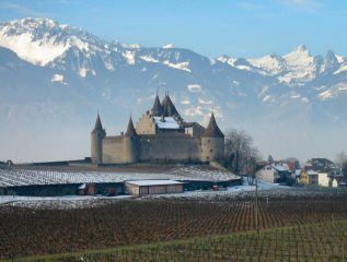 Chateau at Aigle