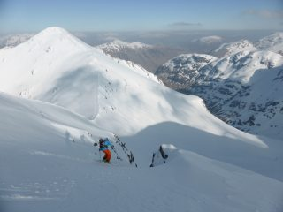 Descending the North-East Face
