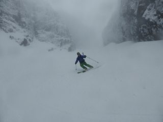 Skiing the Great Stone Shoot