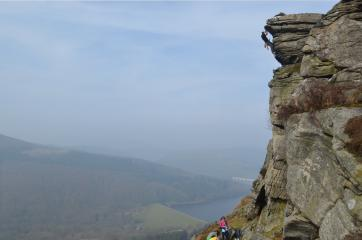 Taken on Gargoyle Flake at Bamford. First time I'd been on it (seconded), looking forward to going back and leading it soon.