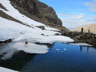 quick dip on after doing tower ridge