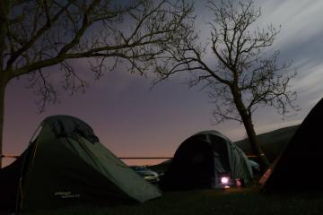 Campsite by night.