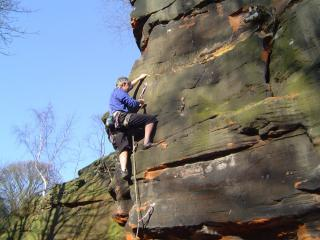 Rob on another of our routes at Frogsmouth Orgy of Ruin 6a