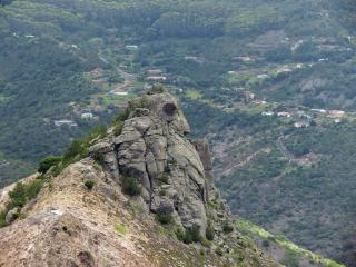 Little Stone Top from Great Stone Top, St. Helena, South Atlantic. Great potential for new routes for the intrepid climber.