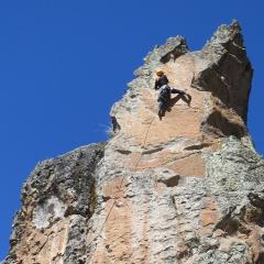 Reachy climb with a lot of commitment